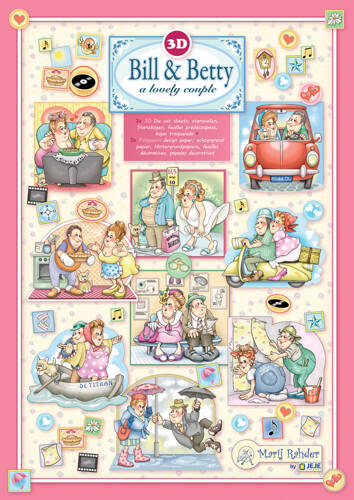 9.0106 - MRJ set Bill &Betty 3x 3D Die cut A4 sheet + 3x Potpourri sheets