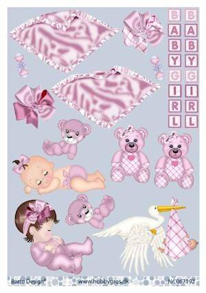 067192 - Barto Design - stappenvel A4 baby girl