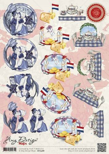 CD10386 - 3D Knipvel - Amy Design - Maps - Holland