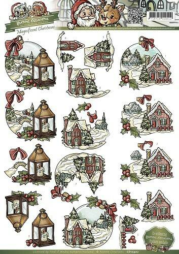 CD10402 - 3D Knipvel - Yvonne Creations - Magnificent Christmas - Christmas in the country
