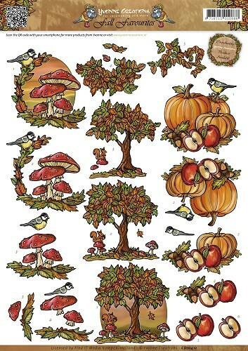 CD10412 - 3D Knipvel - Yvonne Creations - Fall Favourites - Autumn Scenes