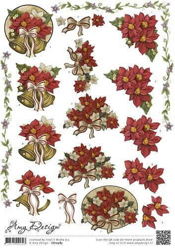 CD10583 - 3D Knipvel - Amy Design - Poinsettia