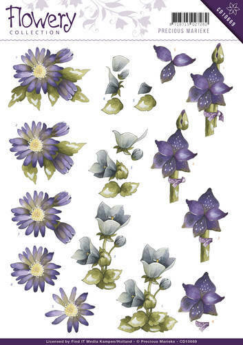 CD10669 - 3D Knipvel - Precious Marieke - Flowery - Mixed flowers