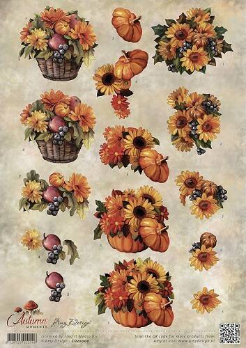 CD10755 - 3D Knipvel - Amy Design - Autumn Moments - Herfstbloemen