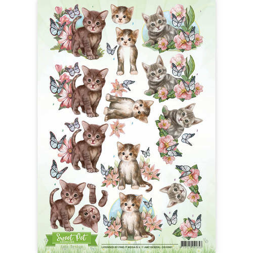 CD10961 - 3D Knipvel - Amy Design - Pets- Cats