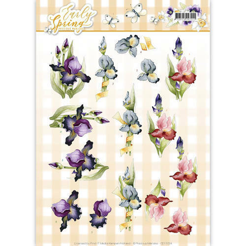 CD11024 - 3D Knipvel - Precious Marieke - Early Spring - Early Irises