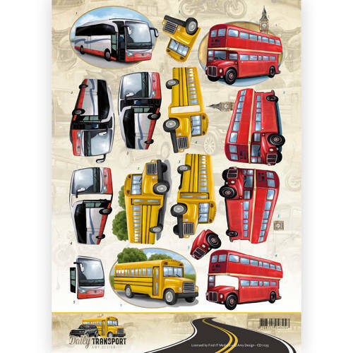CD11035 - 3D Knipvel - Amy Design - Daily Transport - By Bus