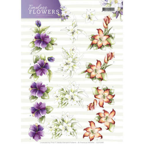 CD11085 - 3D Knipvel - Precious Marieke - Timeless Flowers - Lillies