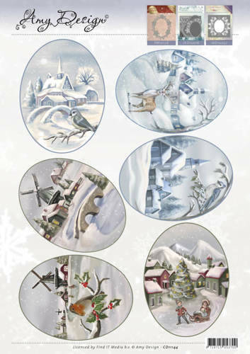 CD11144 - 3D Topper - Amy Design - Winter Landscapes