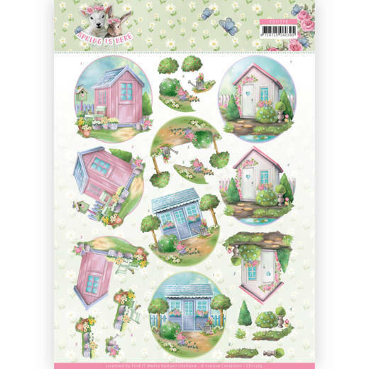 CD11279 - 3D Knipvel - Amy Design - Spring is Here - Garden Sheds