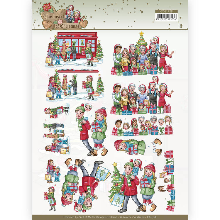 CD11728 - 3D Cutting Sheet - Yvonne Creations - The Heart of Christmas - Shopping