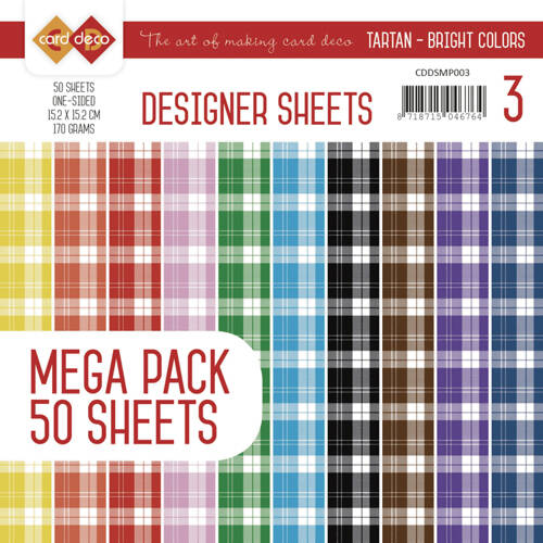 CDDSMP003 - Designer Sheets Mega Pack 3 - Tartan - Bright Colors