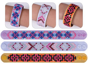 NW-DD30-002 - DIAMOND DOTZ 3 ARMBANDEN MULTI PACK - GEOMETRIC