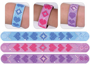 NW-DD30-006 - DIAMOND DOTZ 3 ARMBANDEN MULTI PACK - LOVE