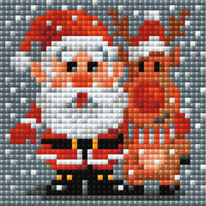 RI-AM0018 - DIAMOND MOSAIC SANTA CLAUS ( 10x10cm )