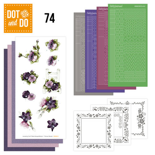 DODO074 - Dot & Do 74 - Purple Flowers