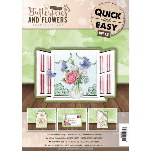 QAE10012 - Quick and Easy 12 - Jeanine's Art - Classic Butterflies and Flowers