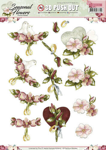 SB10134 - 3D Pushout - Precious Marieke - Seasonal Flowers