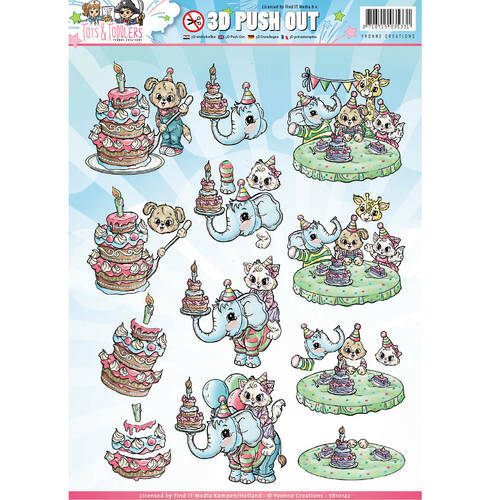 SB10142 - 3D Pushout - Yvonne Creations - Tots and Toddlers
