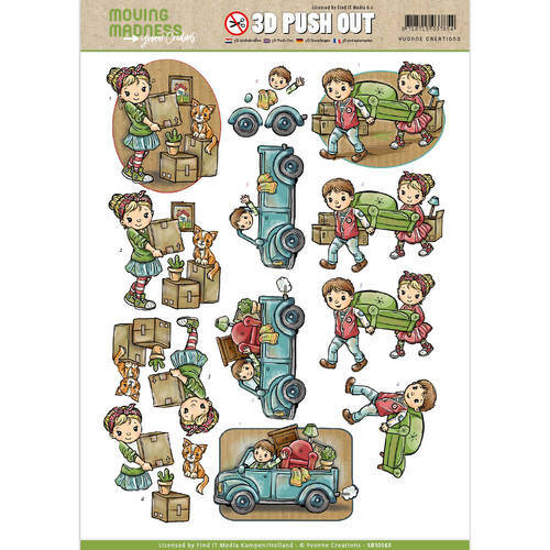 SB10165 - 3D Pushout - Yvonne Creations - Moving Madness - Movers