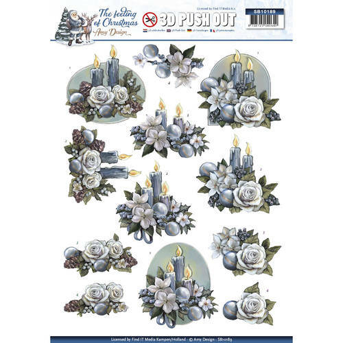 SB10189 - 3D Pushout - Amy Design - The feeling of christmas - Christmas candles