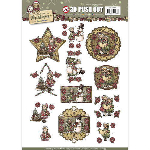 SB10197 - 3D Pushout - Yvonne Creations - Celebrating Christmas - Ornaments