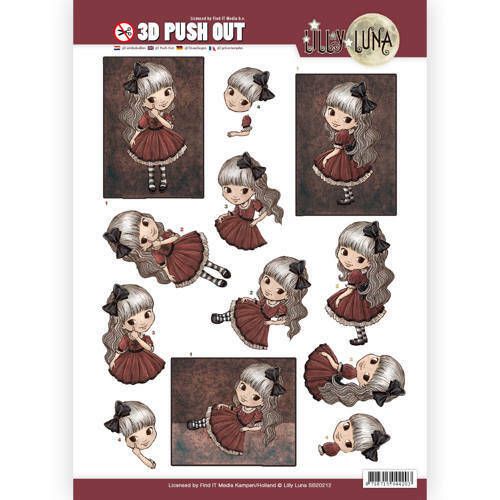 SB10212 - 3D Pushout - Yvonne Creations - Lilly Luna - Just being Gorgeous