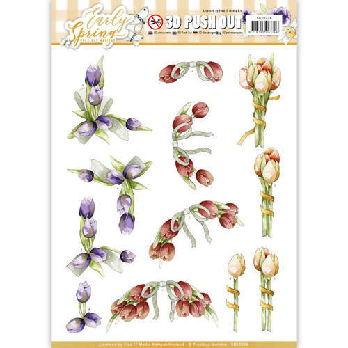 SB10226 - 3D Pushout - Precious Marieke - Early Spring - Early Tulips