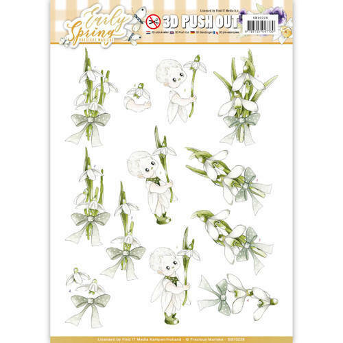SB10228 - 3D Pushout - Precious Marieke - Early Spring - Early Snowdrops