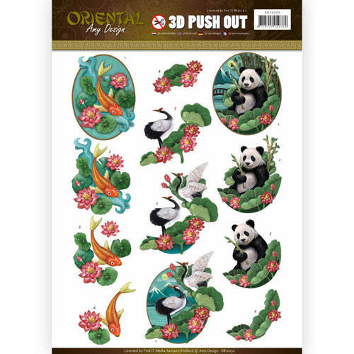 SB10250 - 3D Push Out - Amy Design - Oriental - Animals