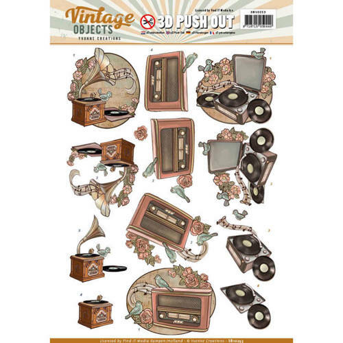 SB10253 - 3D Pushout - Yvonne Creations - Vintage Objects - Vintage Music