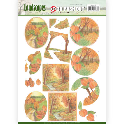 SB10297 - 3D Pushout - Jeanine's Art - Landscapes - Fall Landscapes