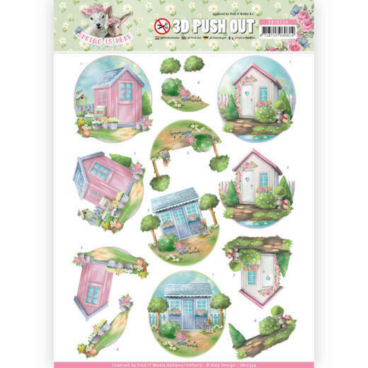 SB10334  - 3D Pushout - Amy Design - Spring is Here - Garden Sheds