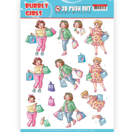 SB10347 - 3D Pushout - Yvonne Creations- Bubbly Girls - Shopping
