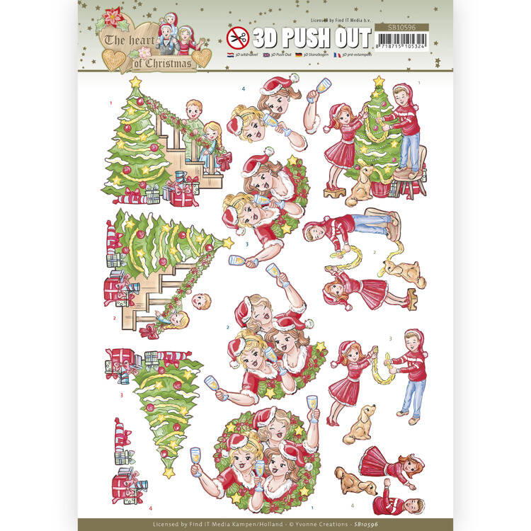 SB10596 - 3D Push Out - Yvonne Creations - The Heart of Christmas - Celebrations