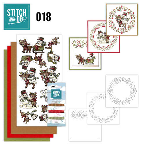 STDO018 - Stitch & Do 18 - Snowman and Reindeer