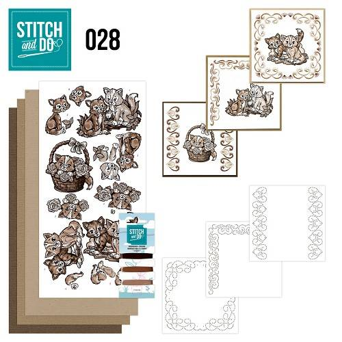 STDO028 - Stitch & Do 28 - Brown Cats