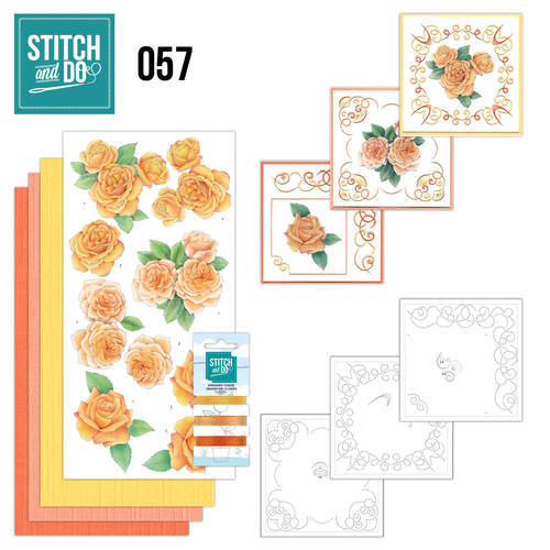 STDO057 - Stitch & Do 57 - Oranje rozen