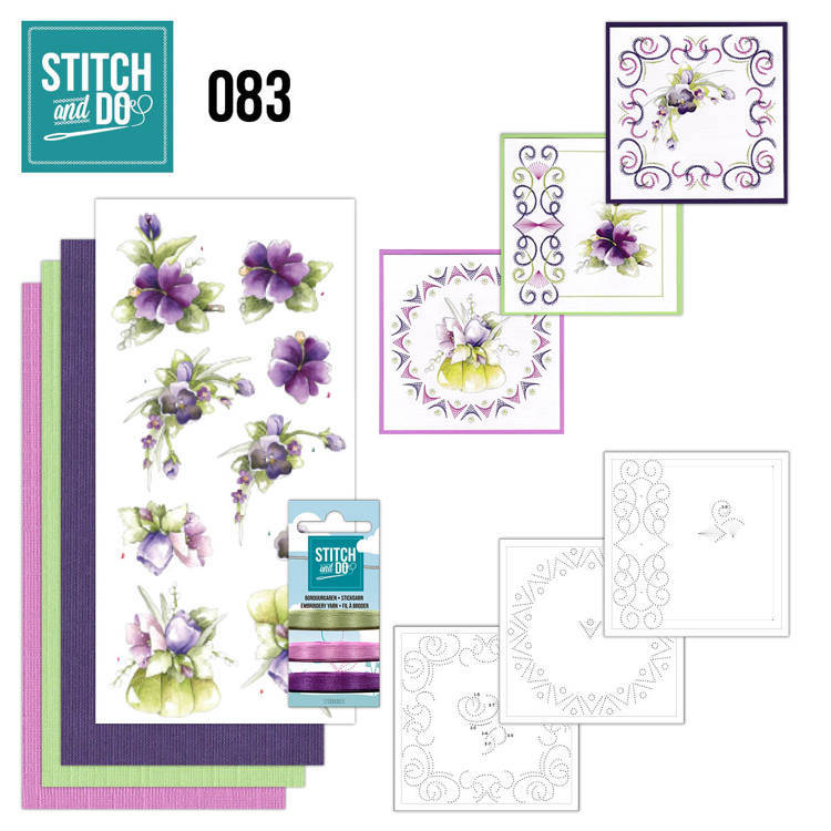 STDO083 - Stitch & Do 83 - Purple Flowers