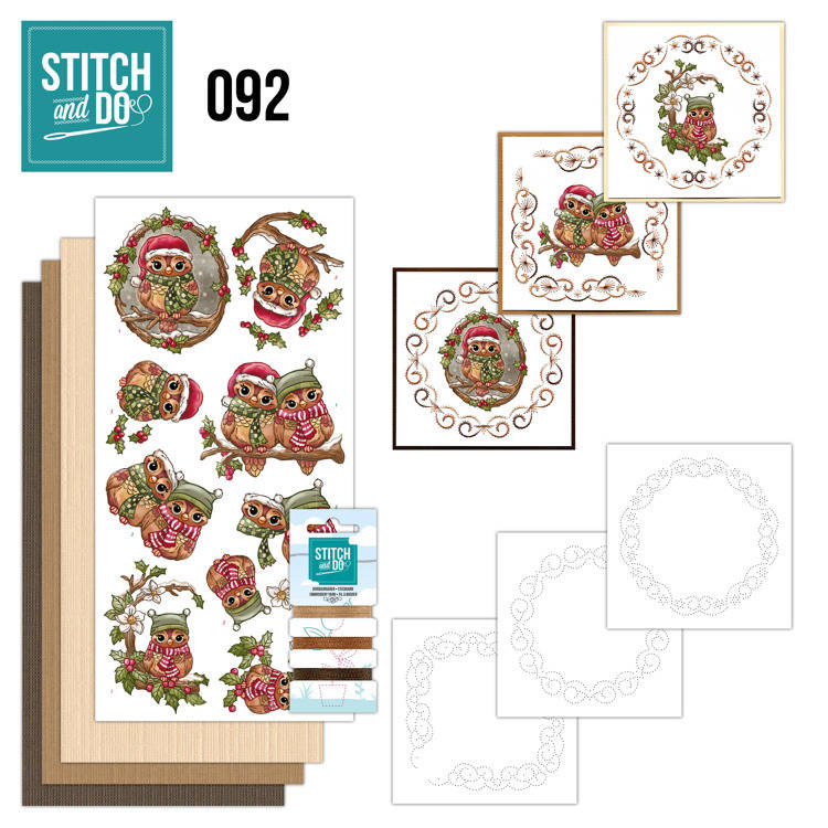 STDO092 - Stitch & Do 92 - Christmas Owls