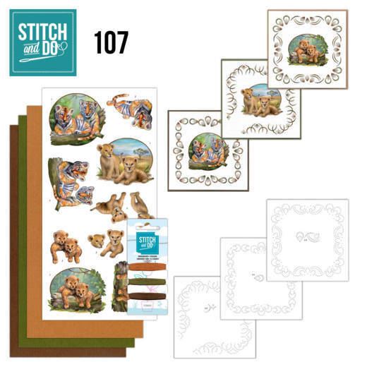 STDO107 - Stitch & Do 107 - Wild Animals