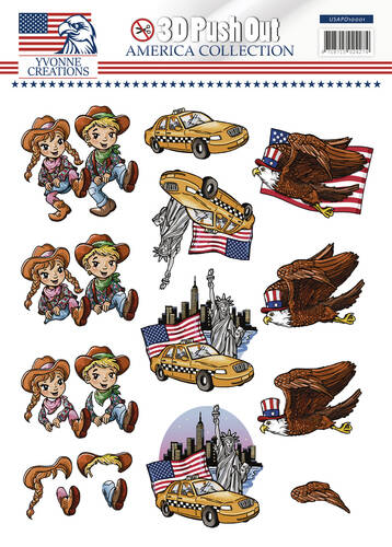 USAPO10001 - 3D pushout - Yvonne Creations - America