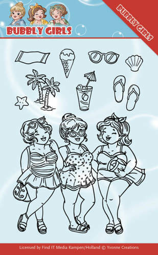 YCCS10042 - Clear Stamps - Yvonne Creations - Bubbly Girls - Beach Girls