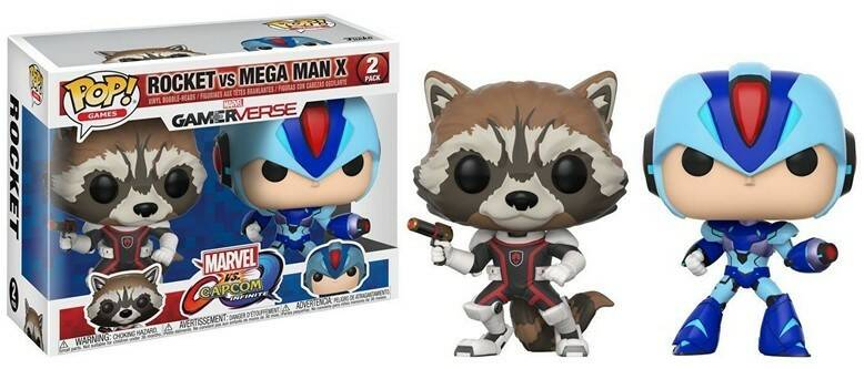 POP22773 - POP! GAMES MARVEL CAPCOM 2-PACK ROCKET / MEGAMAN