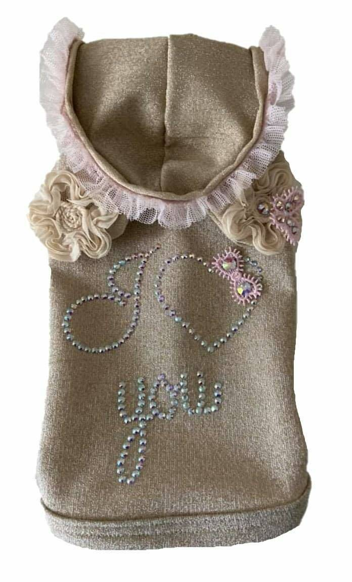 I Love You Sweater - Gold