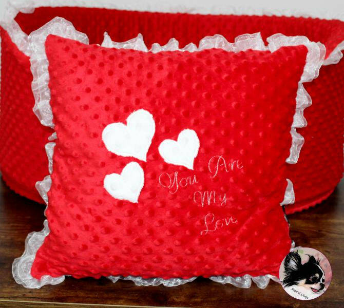 Coussin - You are my Love Rouge