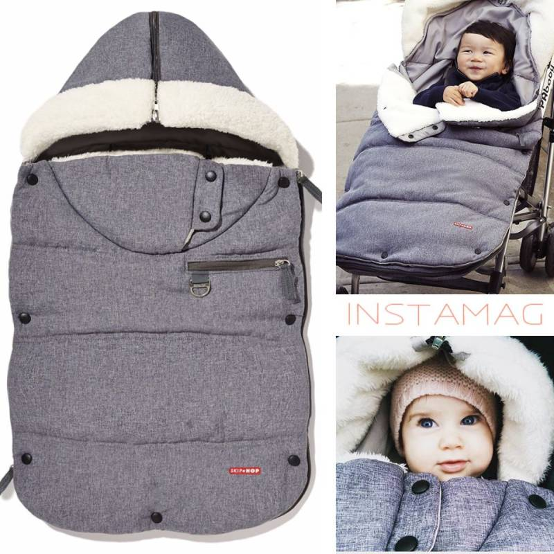 3 seasons footmuff toddler grey