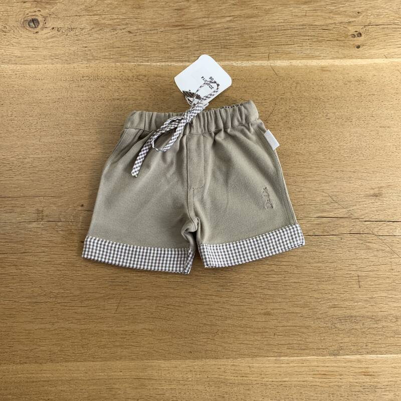 SHORT 2D200 TAUPE BRUINE VICHY 58