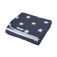 LITTLE DUTCH DEKEN BABYBED GREY STARS