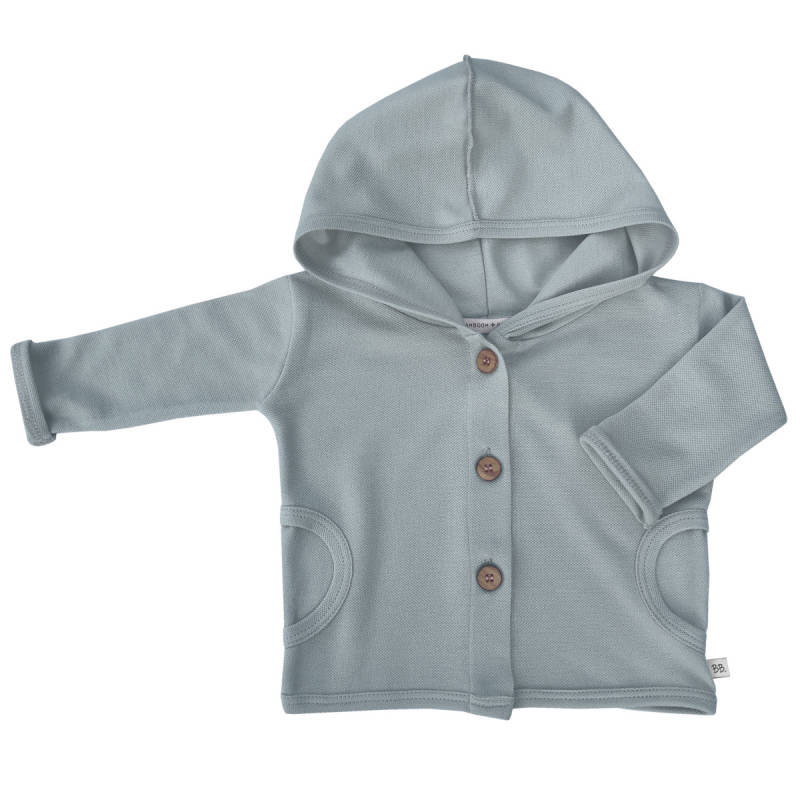 BAMBOOM HOODED CARDIGAN LIGHT BLUE